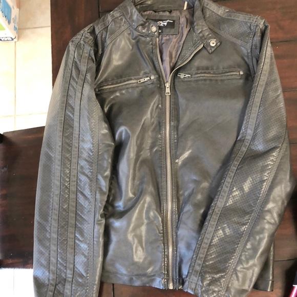 b8cf870f4 Men's Faux Leather Jacket NWT